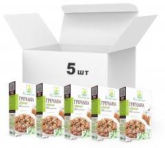 Упаковка крупы гречневой ядрица Терра первого сорта быстрого приготовления в варочном пакете 400 г х 5 шт (4820015737281)