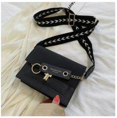 Женская сумка через плечо Homemari с клапаном 19X14.5X7.5CM Черный (sv0245)