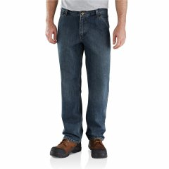 Джинси Carhartt 103327 Holter Dungaree Jeans - Relaxed Fit, Factory Seconds Blue Ridge, 42W 32L (11332896)
