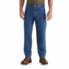 Джинси Carhartt Relaxed Fit Tapered Leg Jeans - Factory Seconds Darkstone, 44W 32L (11324776)