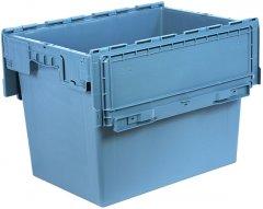 Ящик пластиковый Полимерцентр N6442-ALC (59) с крышкой 600х400х435 мм Маренго
