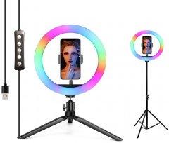 Набор блогера 2в1 XOKO BS-610 (стойка 160 см с RGB LED-лампой 26 см, штатив 19 см настольный)