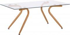 Стол журнальный AMF Willow каркас Бук/стекло Прозрачное (515287)