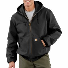 Куртка Carhartt J131 Thermal-Lined Duck Active - Factory Seconds (For Big and Tall Men) Black, 5XL (58) (11395230)