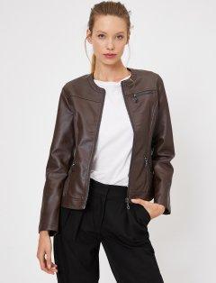Куртка из искусственной кожи Koton 0KAK28236GW-BRN 36 Bronze (8681972256873)