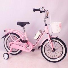 Велосипед дитячий Casper 16 рожевий з кошиком і пляшечкою