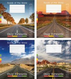 Набор тетрадей ученических Мрії збуваються Дороги В5 клетка 24 листа на скобе уплотненная картонная обложка 4 дизайна 16 шт (TA5.2411.2701к)