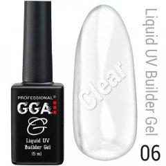 Жидкий гель GGA Professional Liquid Builder Gel 06 Прозрачный 15 мл (1213077619238)