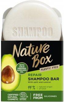 Твердый шампунь Nature Box для восстановления волос с маслом авокадо холодного отжима 85 г (90443046)