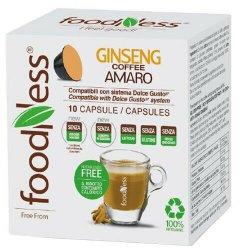 Кофейный капсульный напиток FoodNess Dolce Gusto Кофе с женьшенем без подсластителей 10 капсул х 6 г (8031848005379)