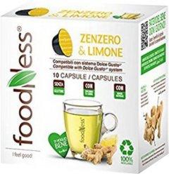 Капсульный чай FoodNess Dolce Gusto Имбирь с лимоном 10 капсул х 12 г (8031848004426)