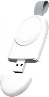 Беспроводное зарядное устройство Qitech Apple Watch Portable Magnetic Charger Gen2 White (QT-AWC-Gen2)