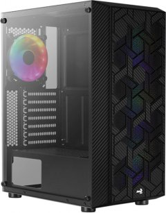 Корпус Aerocool Hive Black Mid Tower FRGB Glass side panel (Hive-G-BK-v2)