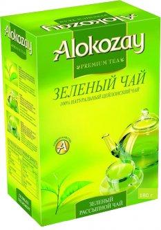 Чай зелений Alokozay среднелистовой 180 г (4820229040122)