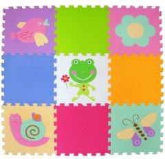 Детский развивающий игровой коврик-пазл Baby Great Летний сад 92х92 см (GB-MF129A)