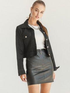 Джинсовая куртка Gepur 36171 S (44) Черная (5000018316938)