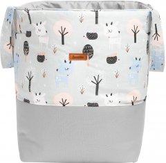 Текстильная корзина для игрушек Sensillo Medium Jelonki Szare 35х47 см (SILLO-8704)