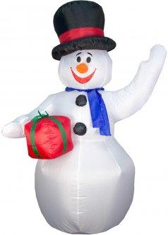 Новогодняя декорация Mag-2000 Снеговик надувной 180 см (830022)
