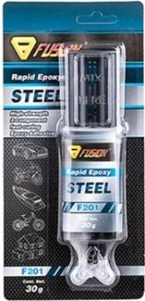 Двухкомпонентный клей для металла Fusion F201 Rapid Epoxy Steel (FU201)