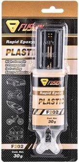 Двухкомпонентный клей для пластика Fusion F202 Rapid Epoxy Plastic (FU202)