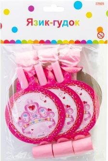 Набор Maxi Princess 6 языков-гудков для свиста Розовый (MX354127)