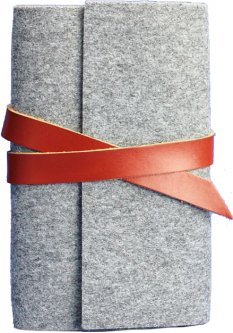 Блокнот BlankNote 1.0 Фетровый с коричневыми вставками 14 х 20 см 120 л (BN-SB-1-st-flt-k)
