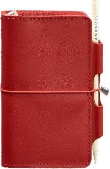 Блокнот BlankNote 3.0 Кожаный Красный 12 х 16 см 120 л (BN-SB-3-mi-red)