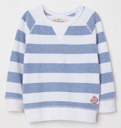 Джемпер H&M 9Z5755298 134-140 см Біло-синій у смужку (hm05087611499)