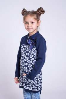 Кардиган Maksim&Liza шкільний трикотажний в'язаний 140 см синій (300037203103)