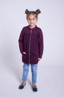 Кардиган Maksim&Liza школьный трикотажный вязаный 152 см фиолетовый (300037202105)