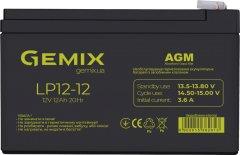 Аккумуляторная батарея Gemix 12V 12Ah AGM (LP1212)