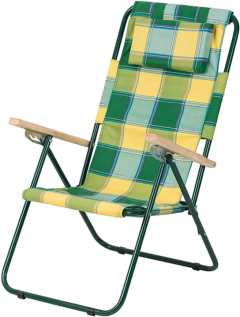 Кресло-шезлонг Vitan Ясень Зелено-желтое (2110014)