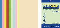 Набор офисной цветной бумаги Buromax Euromax Pastel + Intensive А4 80 г/м² 10 цветов 50 листов (BM.2721650E-99)