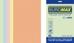 Набор офисной цветной бумаги Buromax Euromax Pastel A4 80 г/м² 5 цветов 250 листов (BM.27212250E-99)