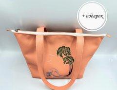 Женская сумка городская сумка пляжная с вышивкой. Forsa