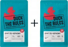 Кофе молотый Duck The Rules Бунт по-черному свежеобжаренный 200 г х 2 шт (4820241340033)
