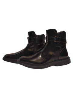 Чоловічі черевики Челсі з пряжкою і бічній пряжкою International INC Concepts 43352 чорні 45 р.