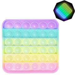 Игрушка антистресс Pop It Simple Dimple Квадрат флуоресцентный (2000992408578) (2000992408356)