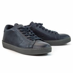 Кеди Leather Crown SNEAKER UOMO CERVO 54-BLU+STR PIOMBO N7743 41