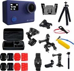 Набор блогера 30 в 1: экшн-камера AirOn ProCam 8 Blue с аксессуарами (69477915500062)