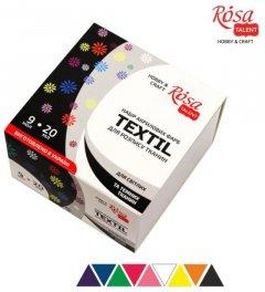 Набор акриловых красок для росписи тканей Rosa Talent 9 цветов в банках по 20 мл (4823098506218)