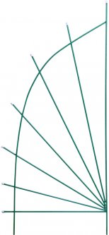 Опора Парус GardenCity 2000 х 850 х 12 мм (SM152085)