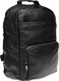 Мужской кожаный рюкзак Laras K10551 Черный (ROZ6206113741)