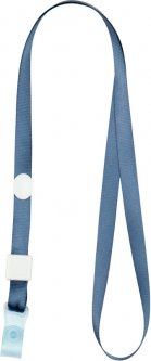 Набор шнурков для бейджа Axent с силиконовым клипом Дымчатый синий 20 шт (4551-15-A)