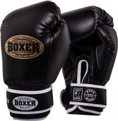 Перчатки боксерские BOXER Кожвинил 0.6 мм 8 унций Черные (2024-03BLK)