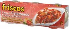 Кальмары Friscos нарезанные кусочками в американском соусе 3 шт х 80 г (8410315135120)