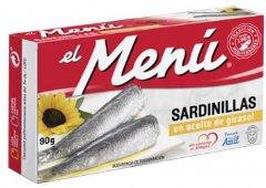 Сардины средиземноморские El Menu с лимоном в подсолнечном масле 90 г (8410140026310)