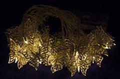 Светодиодная гирлянда Devilon в форме бабочки на батарейках 20 ламп 4.3 м теплый белый (652402)