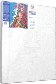 Набор для творчества Rosa Start акриловая живопись по номерам Весна в Париже (4823098501299)