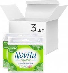 Упаковка ватных палочек Novita Organic 3 пачки по 100 шт (4823071617269)